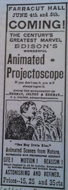 Farragut Theatre Advertisment 1897