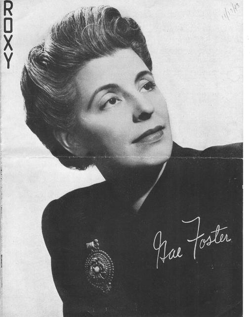 Gae Foster producer of many 1930s - 40s NY ROXY stage shows
