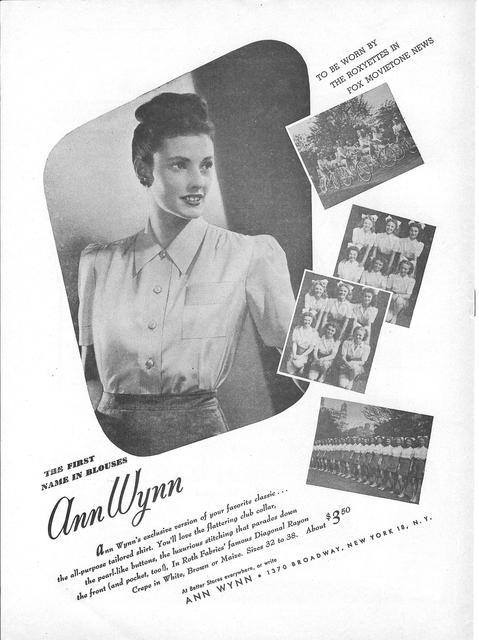 1945 NY ROXY Roxyettes ad