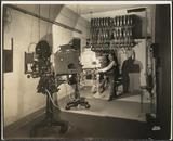 Projection room of the Jackson Theater, 1925.