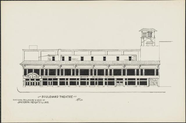 A 1936 rendering of the Boulevard Theatre