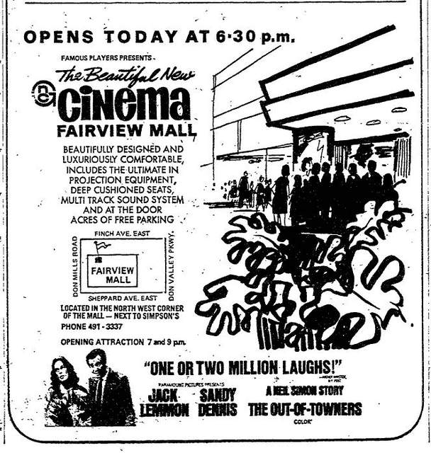 Ad for opening of Fairview's original incarnation on Aug. 5, 1970