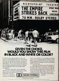 Dolby print ad. Image taken between 05/21/80 and 12/04/80.