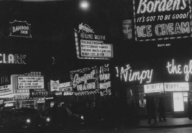 1954 image of the Clark Theater. Photo credit Lee Balterman.