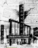 <p>Post-War Dallas saw the rise of new suburban movie theaters which would pressure some of the second-run theaters on downtown Dallas' theater row. This architectural sketching by Raymond F. Smith of the Granada was the first of many suburban Dallas theaters to be operated by the Phil Isley Theater Circuit opening January 16, 1946.</p>