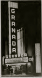 <p>Early 1946 shot of the new Granada Theater showing of its 60 foot porcelain Texlite Co. sign with changing neon lighting. It was the Phil Isley Circuit's first Dallas theater and it stood the test of time.</p>