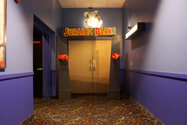 Jurassic Park Entrance at the T-Rex Theater