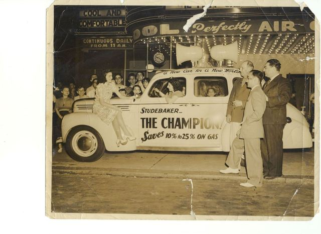 Rose Zambrano & 1939 auto (photo from her daughter Maria Zambrano)