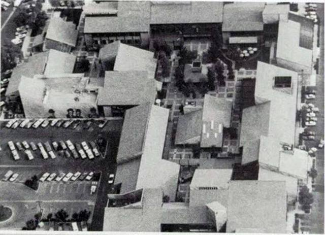 Aerial View of the Vineyard Shopping Center in the late 70's