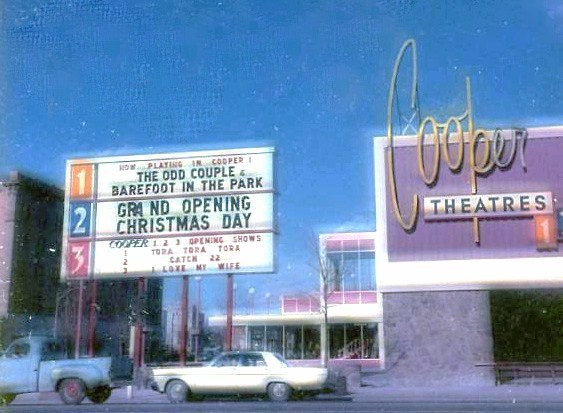 Opening of Cooper 1-2-3 Theatres, December 24, 1970