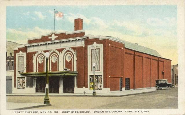Early postcard of the Liberty Theatre courtesy of George Cline.