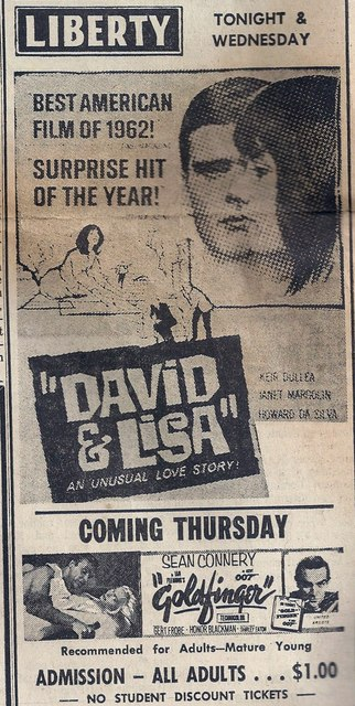 1964 newspaper ad courtesy of Tom Marshall.