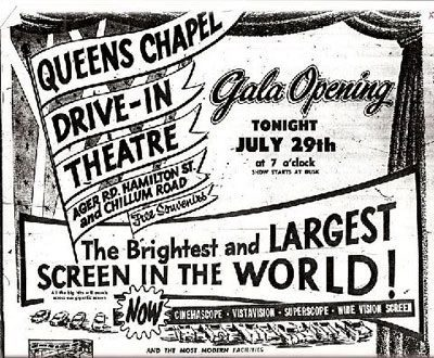 1955 Gala Opening ad for Queens Chapel.