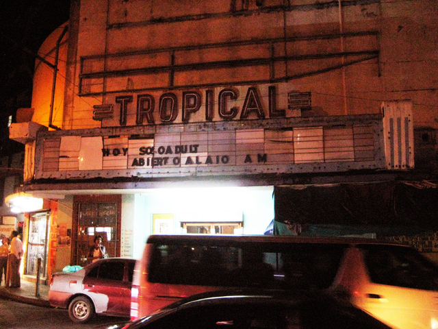 front of historic teatro Tropical -