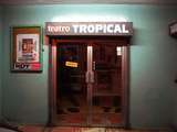 "[""Front entrance of Cine Tropical - Panama City, Panama""]"