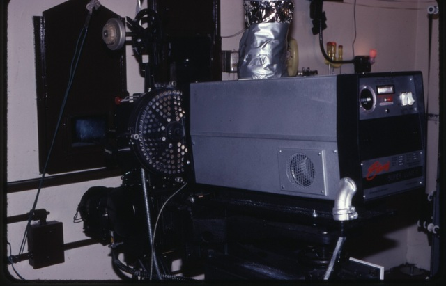Projection Booth Circa 1987 or so