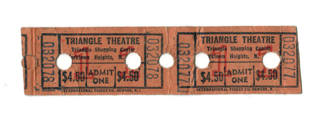 TICKETS FROM EARLY 80s