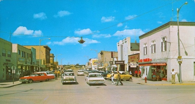 Mid `60's photo of the Grand Theatre on the right. Photo courtesy of the Lincoln Land Facebook page.