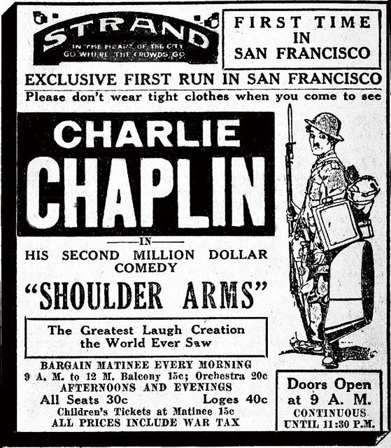 Charlie Chaplin at the Strand