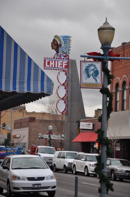 Chief Theater sign