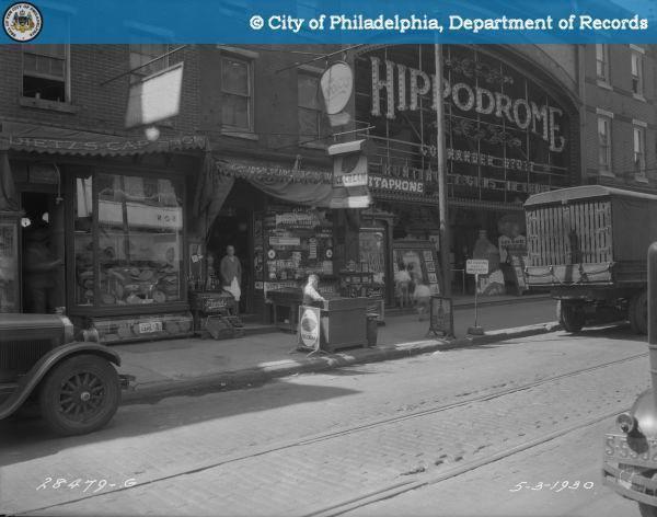 1930 photo credit Irving R. Glazer Theater Collection, Athenaeum of Philadelphia, City of Philadelphia Department of Records.