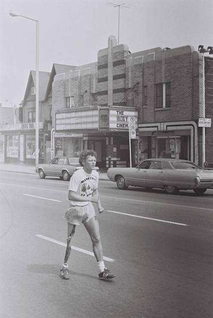 July 1980 photo of Canadian Athlete Terry Fox courtesy of the Vintage Toronto Facebook page.