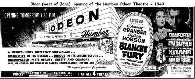 This vintage ad has all the Odeon's listed. Image courtesy of Comedian Terry Yonka.