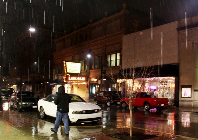 Neon through the rain