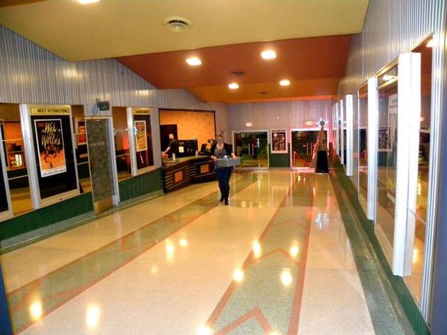 Lobby and concessions with original terrazzo floor