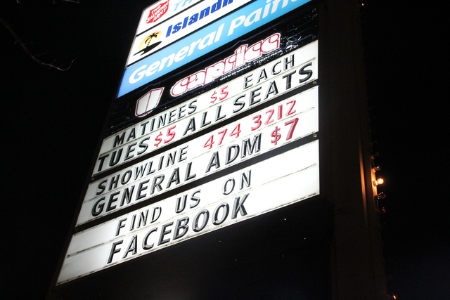 Street side marquee