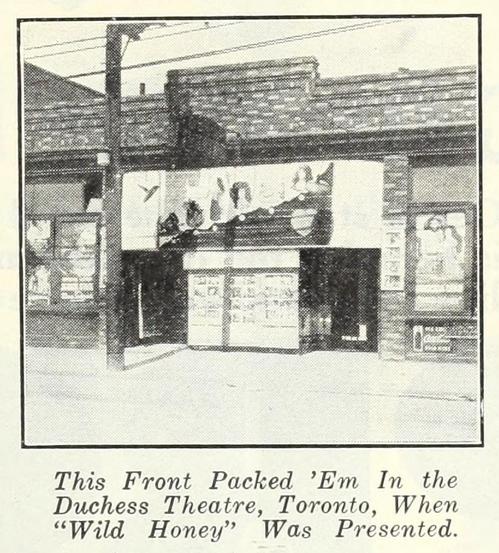 Duchess Theatre, Toronto in 1922
