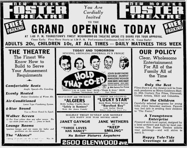 December 26th, 1938 grand opening ad