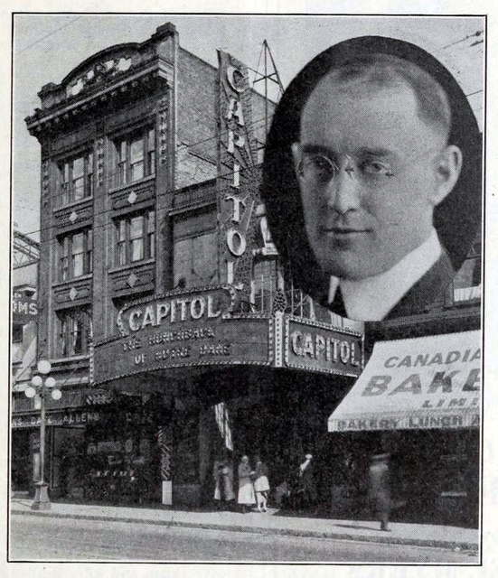 Capitol Theatre, Vancouver BC in 1924