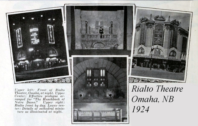 Rialto Theatre, Omaha, NB in 1924