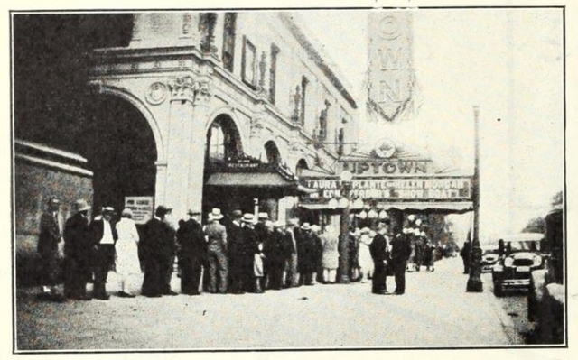 Uptown Theatre, Boston MA in 1927