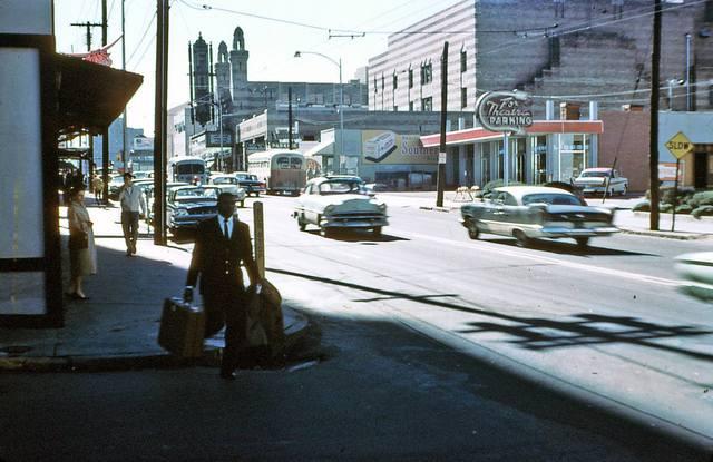 Late `50's photo of the Fox Theatre courtesy of Dan Morrison.