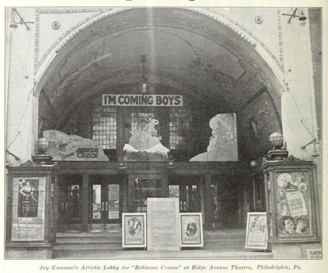 Ridge Avenue Theatre, Philadelphia PA in 1922