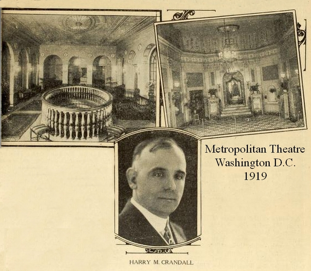 Metropolitan Theatre, Washington DC in 1919