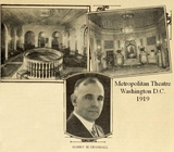 Metropolitan Theatre, Washington DC in 1919