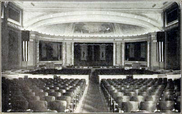 Rialto Theatre, Washington DC in 1919 - Interior