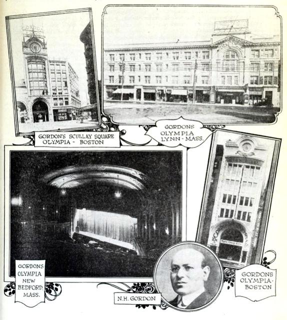 Gordon's Olympia Theatre, Boston MA in 1919
