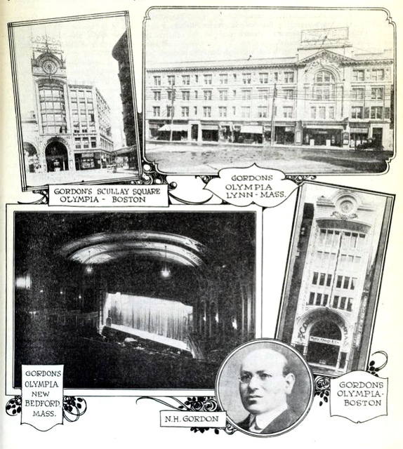 Gordon's Olympia Theatre, Lynn MA in 1919