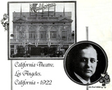 California Theatre, Los Angeles, California in 1922