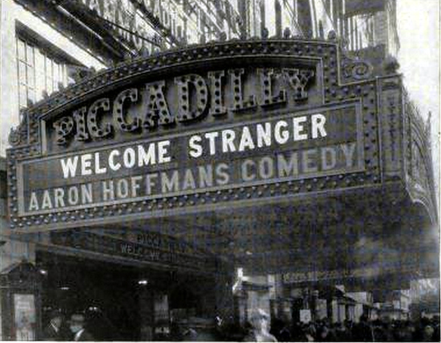 Piccadilly Theatre, New York in 1924