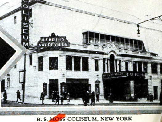 B S Moss Coliseum Theatre, New York in 1926
