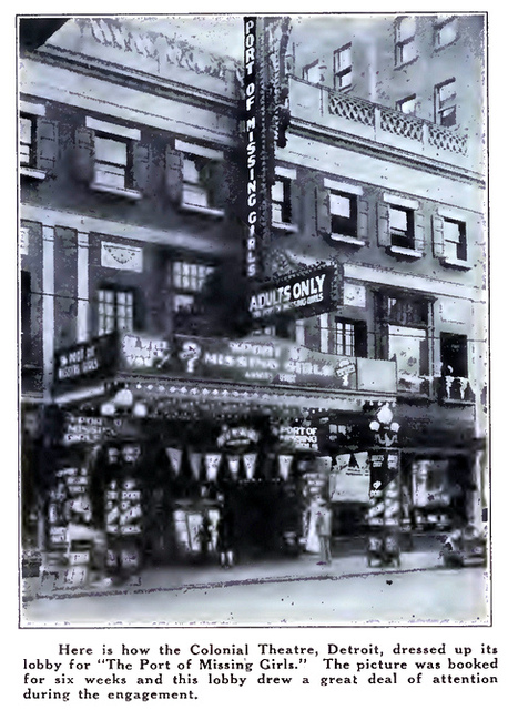 Colonial Theatre, Detroit, MI in 1928