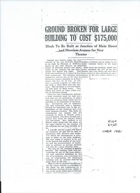 newspaper article on building