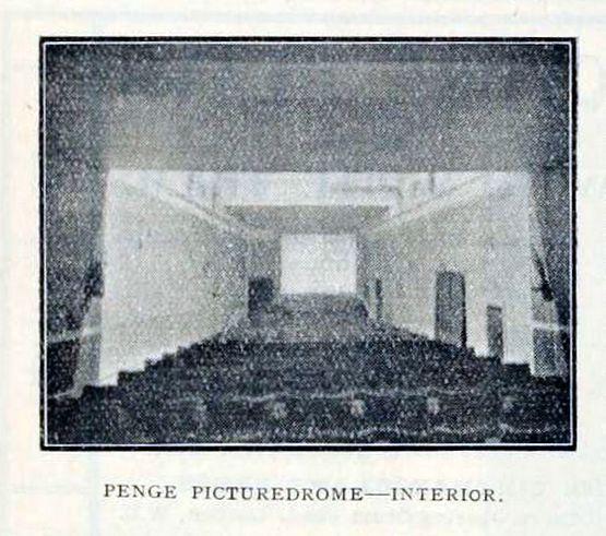 Penge Picturedrome, London UK in 1912 - Interior