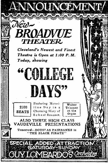 January 16th, 1927 grand opening ad