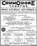 August 28th, 1927 opening ad